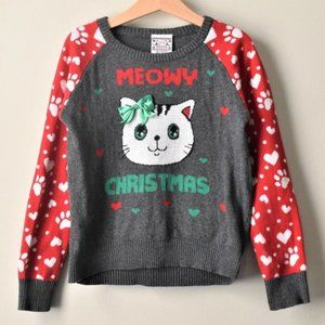 Well Worn Brand Meowy Christmas Sweater